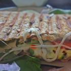 Grilled vegetable mozzarella sandwich