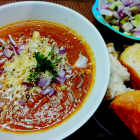 Pav bhaji(mixed vegetable curry sauce with cheese)