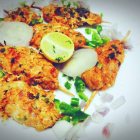 Minced chicken red lentils kebab