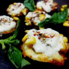cheese canapes with spicy corn filling