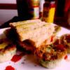 Egg muffins sandwich