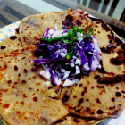Purple cabbage stuffed paratha(Purple cabbage stuffed Indian flatbread)