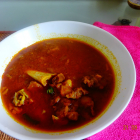 Mutton gravy with papaya