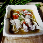 Thukpa(Tibetan noodles soup with chicken and vegetables)