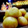 Coconut rawa laddo(coconut semolina sweet balls)