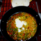 Karhai Matar(Green Peas in spicy gravy)
