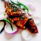 Grilled Goan fish ambotic