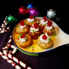 Pumpkin cup cake|Christmas cup cake