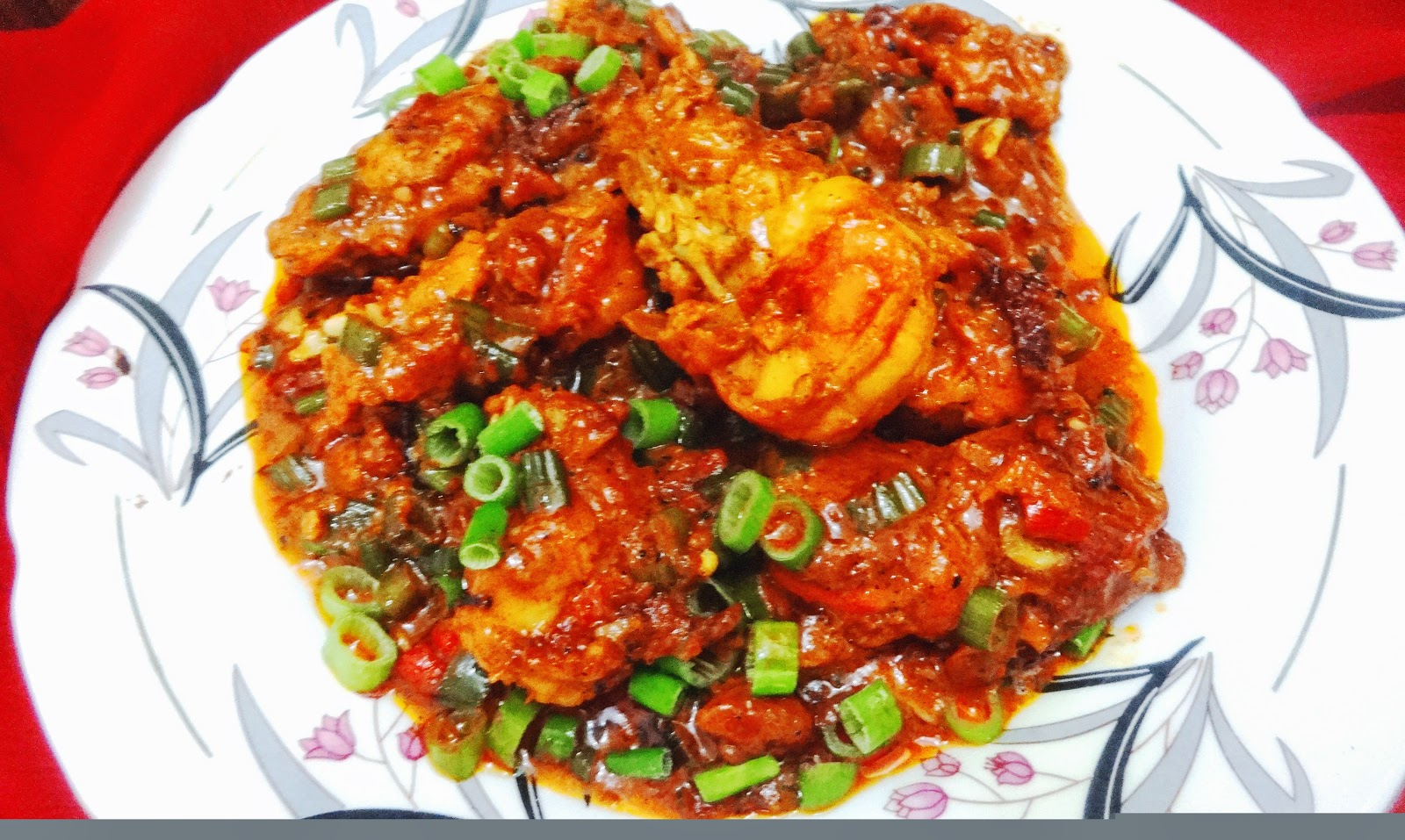 Sweet and sour  GarlicChilly Prawn