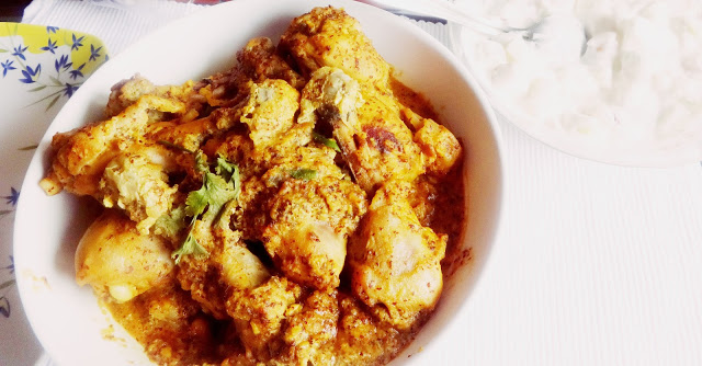 Sorshe murgi(chicken in Mustard sauce and homemade mayonnaise)