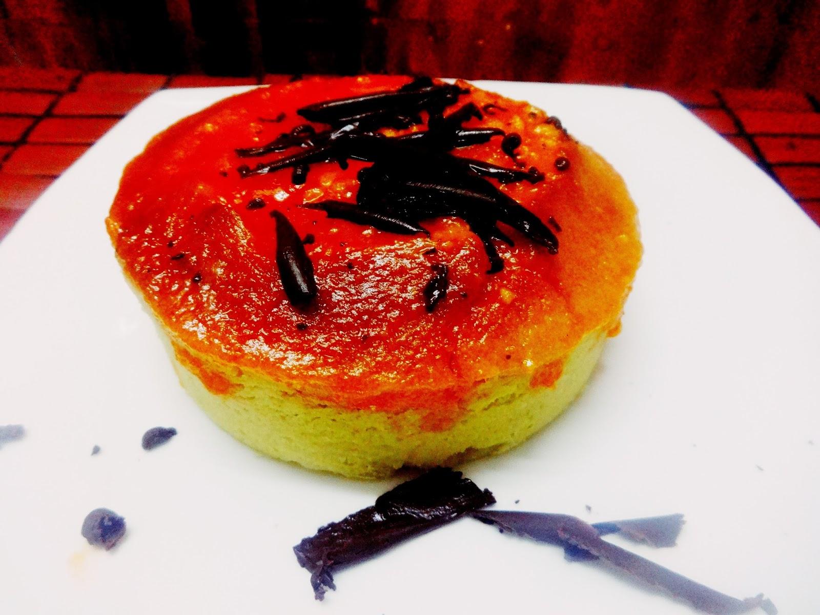 Vanilla pound cake with orange glaze