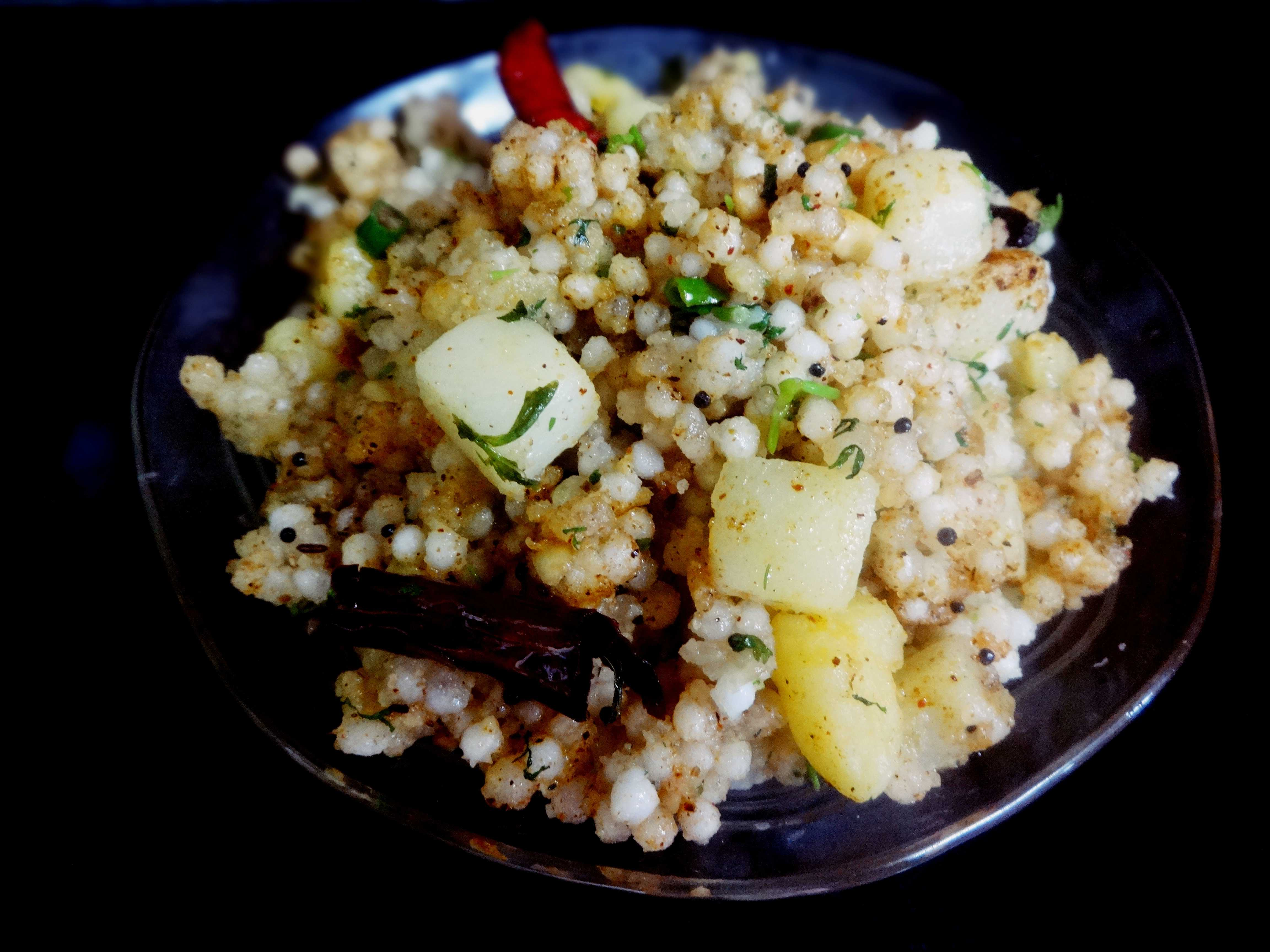 Sabudana Khichdi(Tapioca pearls one pot meal)