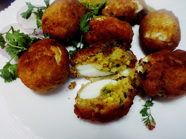 Dimer devil(Battered fry deviled eggs)