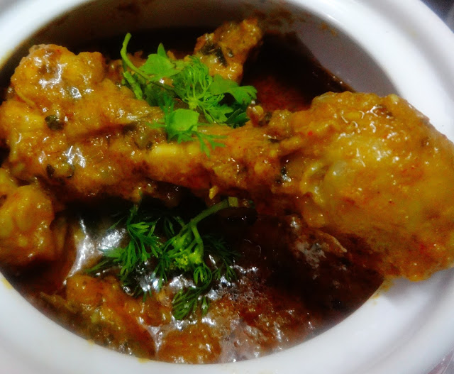 Methi Malai Murg(chicken with fenugreek leaves)