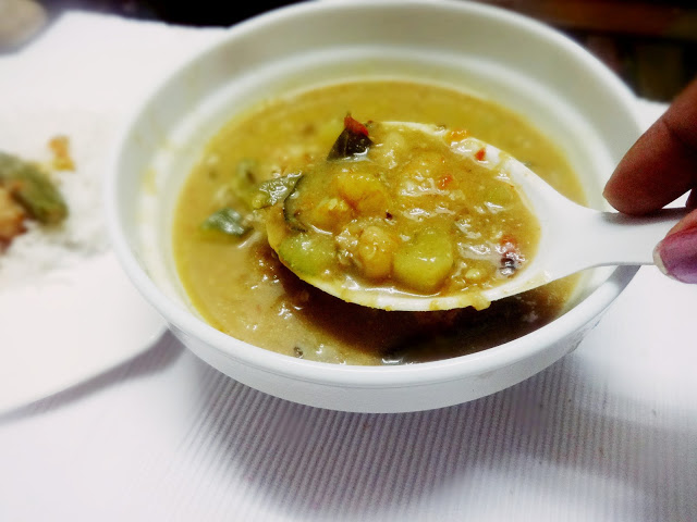 Prawn kanji curry(seafood curry in rice gruel)