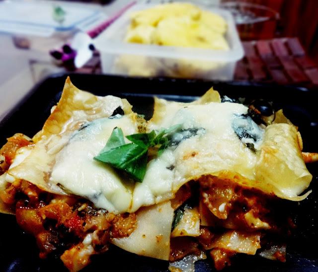 Pineapple curry lasagna