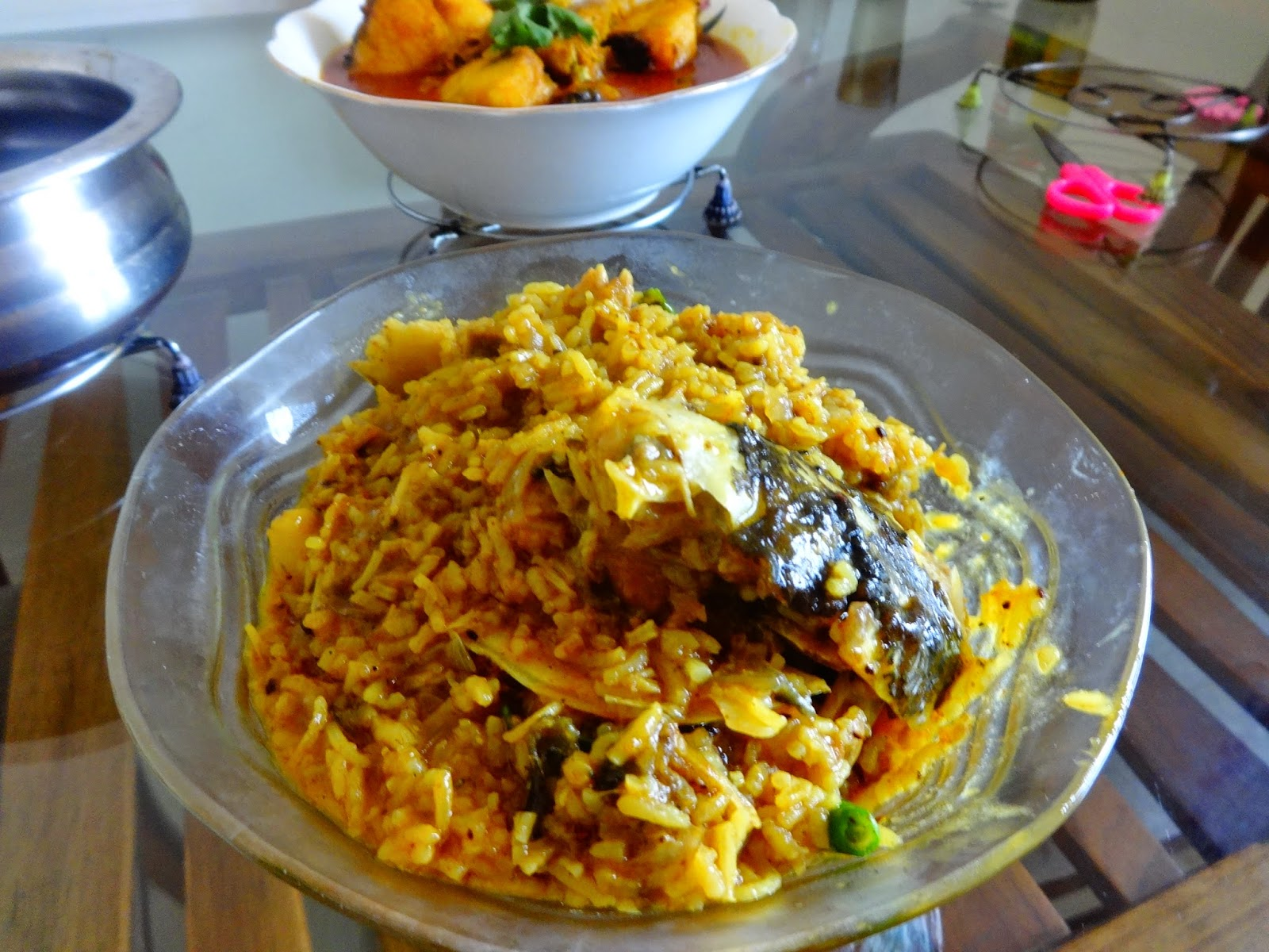 FISH HEAD WITH RICE MASALA(MACHHER MURO GHONTO)