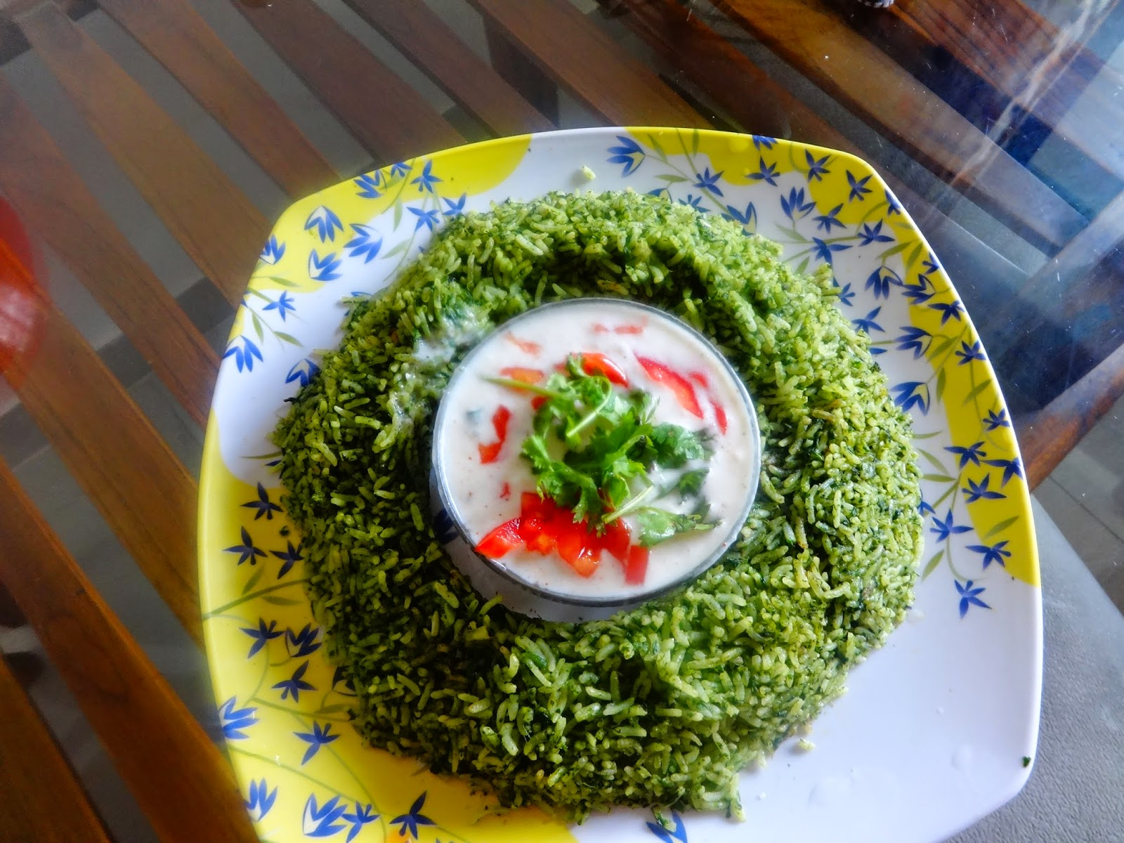 SPINACH RICE(PALAK RICE)