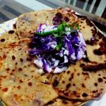 Aloo tokri chaat (Potato basket Indian savory snacks)