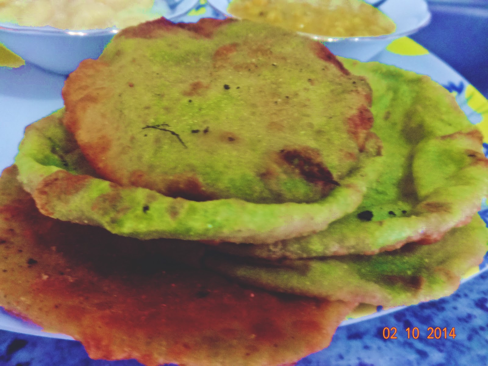 Peas kachori( peas stuffed crisp indian bread)