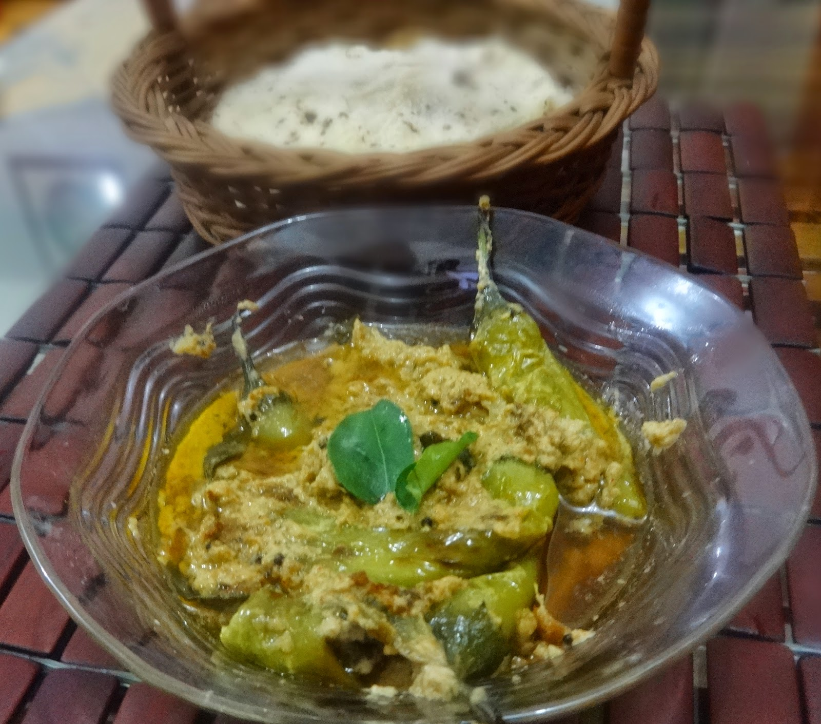 Mirchi ka salan(jalapenos in sesame and roasted peanuts paste)