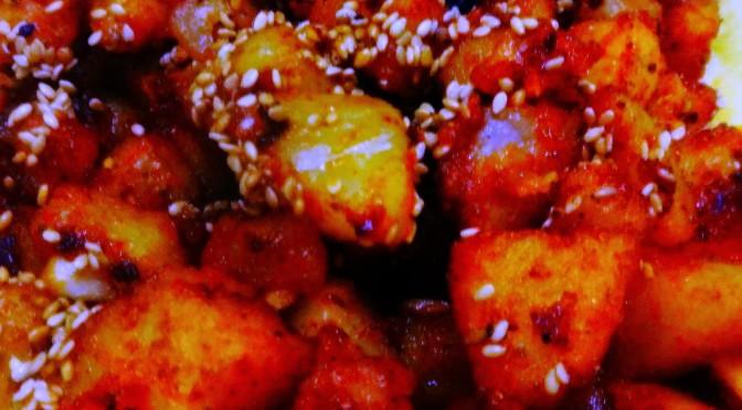Potato chilli bites