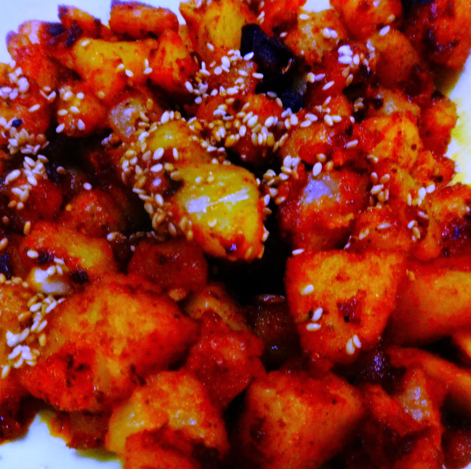 Potato chilli bites