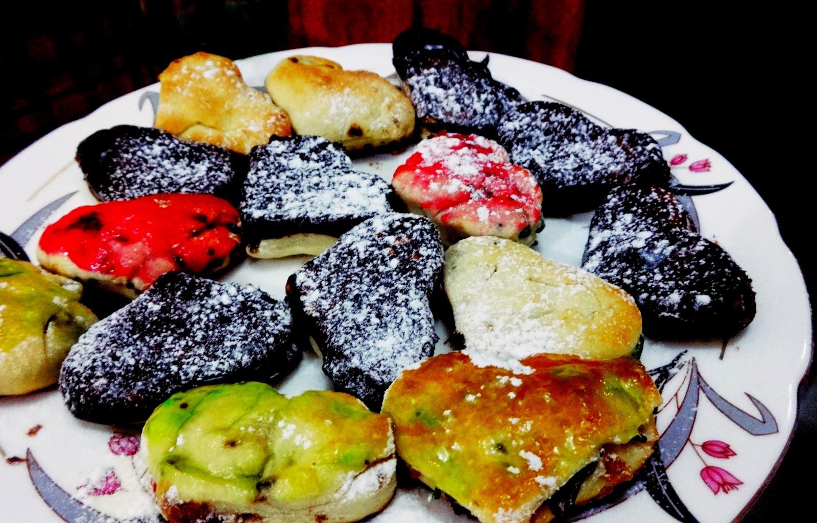 Heart shaped mini doughnuts
