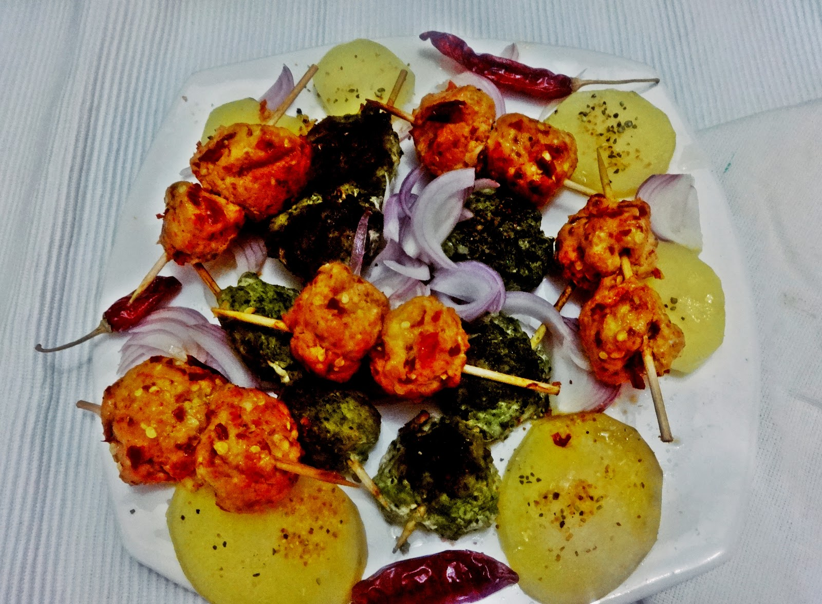 Chicken Pahadi and chicken tandoori meat balls