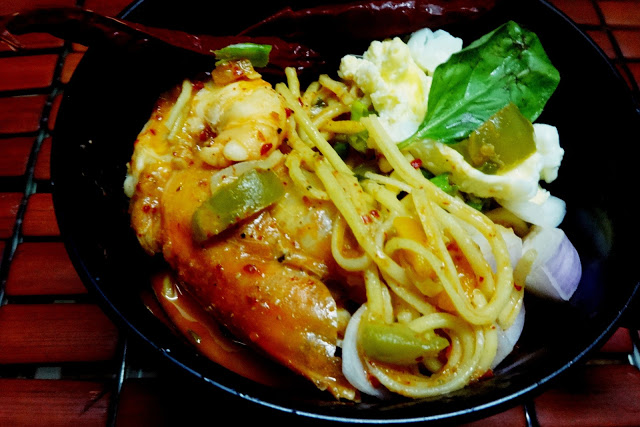 Prawn Chilly curry noodles-inspired from Malaysian Laksa
