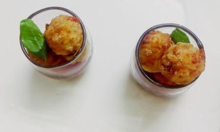 Prawn rice balls