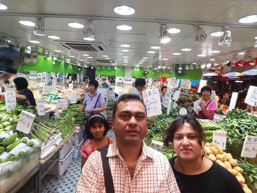 Hongkong vegetable market
