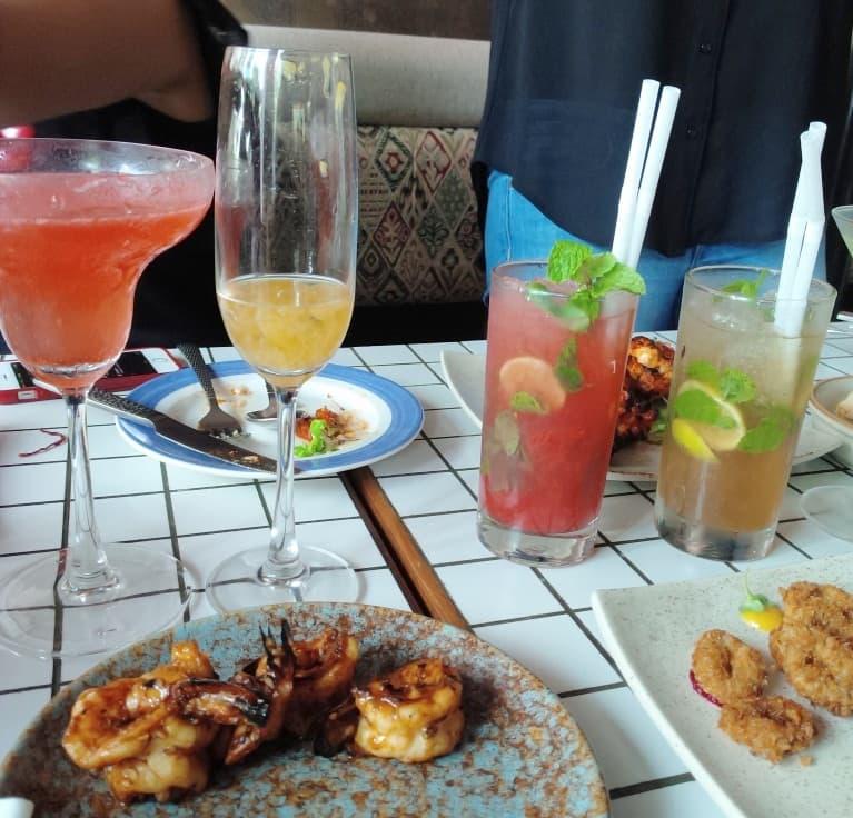 Mocktails..brunch at NRI