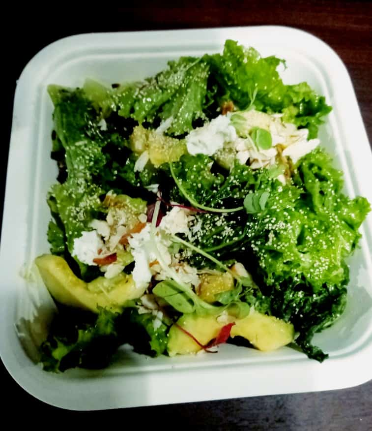 Kale ,strawberry and avocado salad organic food