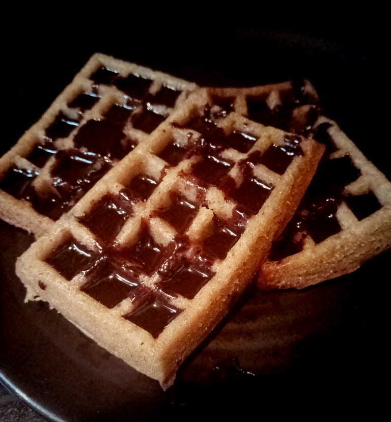 barley waffles recipe eggless