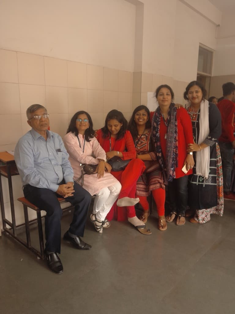 Colleagues in food festival