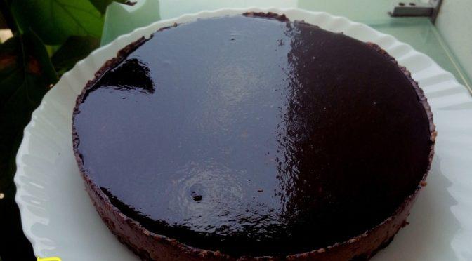 Chocolate baked yogurt cheesecake recipe without cheese