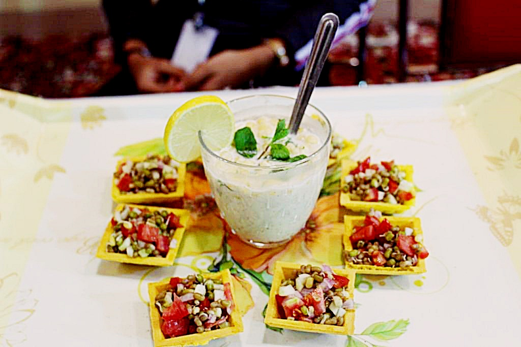 Sprout canape chaat