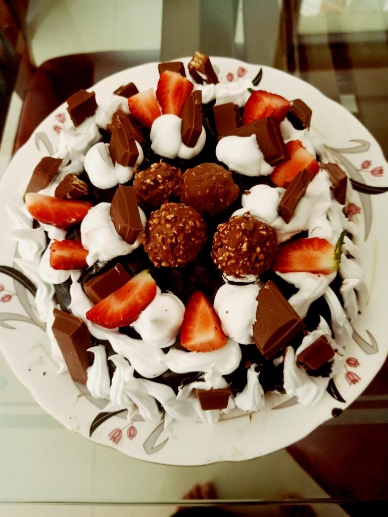 CHocolate curd cake
