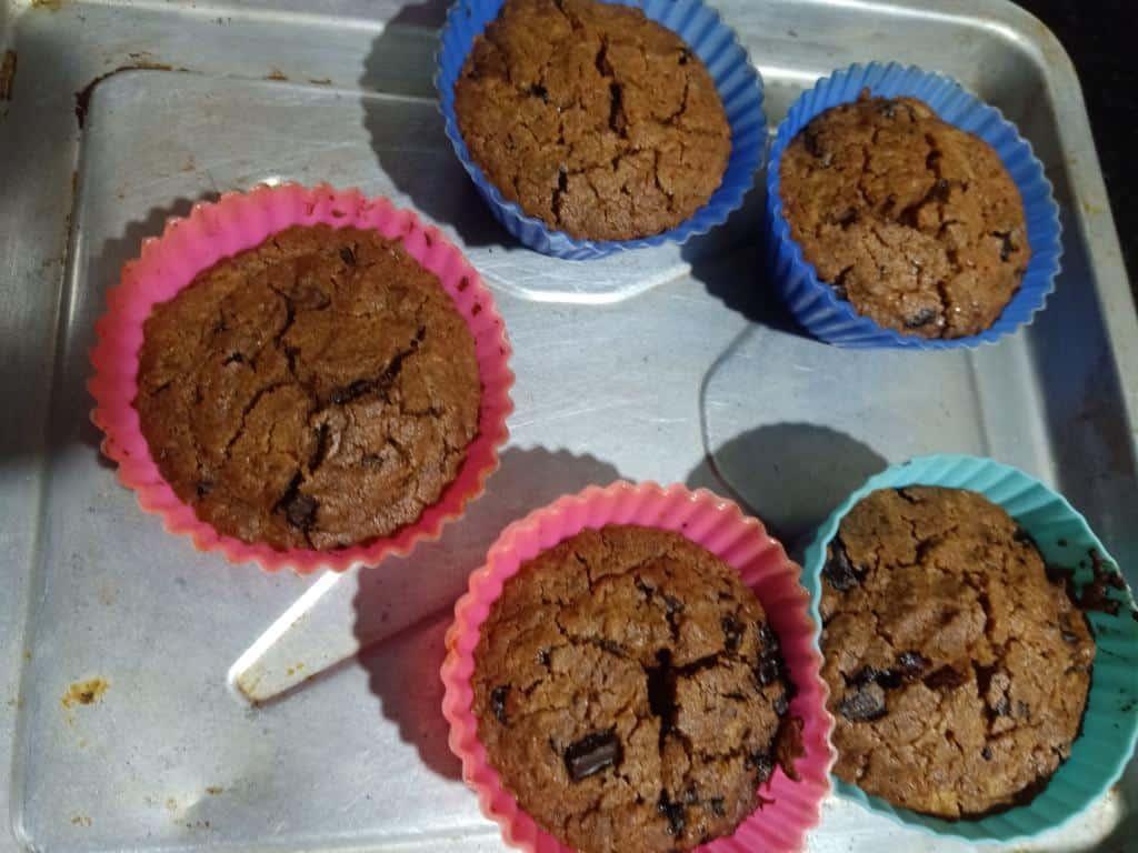 Chocolate digestive biscuits muffins