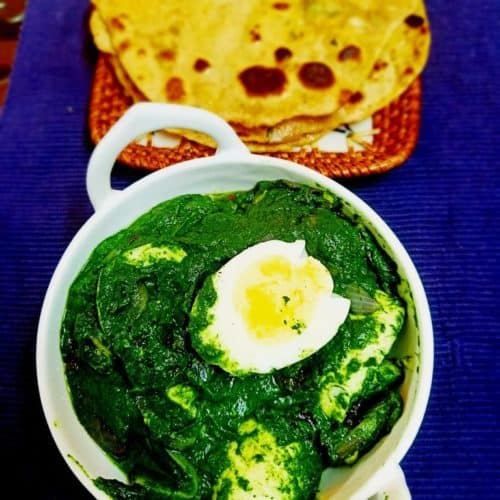 Spinach egg curry
