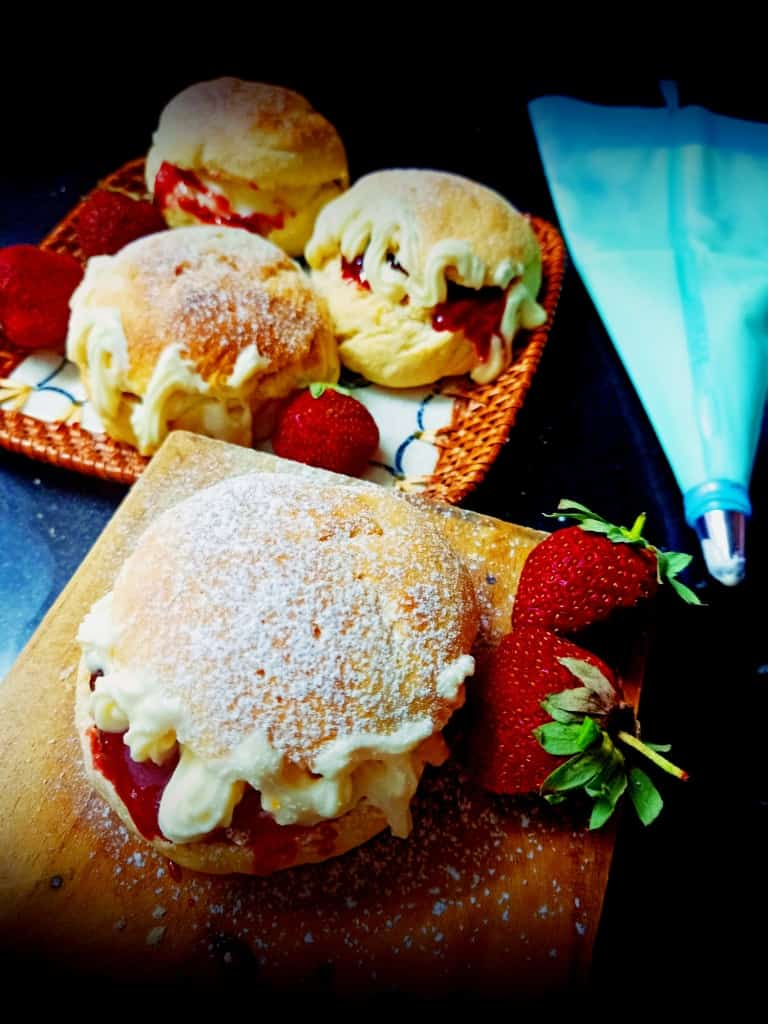 Devonshire split buns recipe