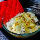 Mutton keema Biryani/Biriyani (Minced mutton casserole)