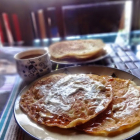 Rice and jaggery pancakes