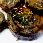 Alu vadi(Stuffed colocasia leaves pinwheels)