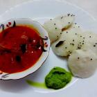 Idli sambar chutney