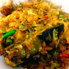 Machher matha badhakopi(Cabbage with fish head)