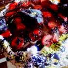 Multilayered chocoberry cake