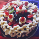 Eggless mixed fruit chocolate cake