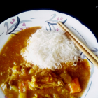 Japanese chicken curry with home made curry roux
